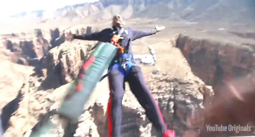 Will Smith's bungee jump.