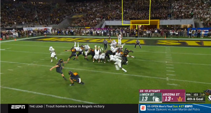 d2172ca4de4 ESPN SkyCam shows horrible angle of Arizona State s game-winning field goal  vs Michigan State