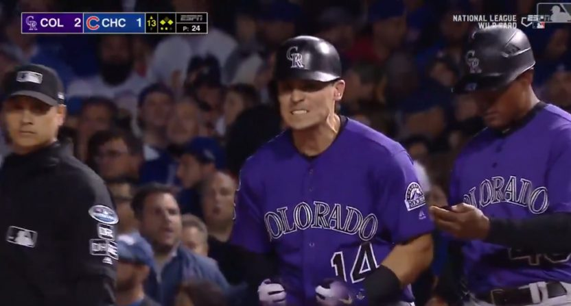 Tony Wolters proved the improbable hero for the Rockies.