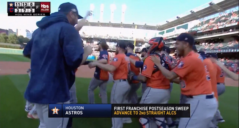 Houston heading back to ALCS after sweeping Cleveland via