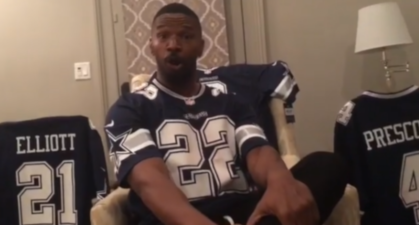 Jamie Foxx trolled Stephen A. Smith after the Cowboys beat the Saints.