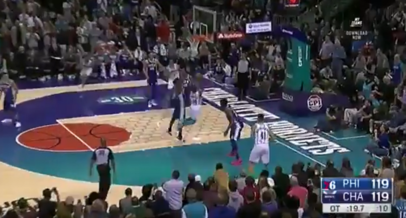 Jimmy Butler blocked Kemba Walker, then drilled the game-winning shot.