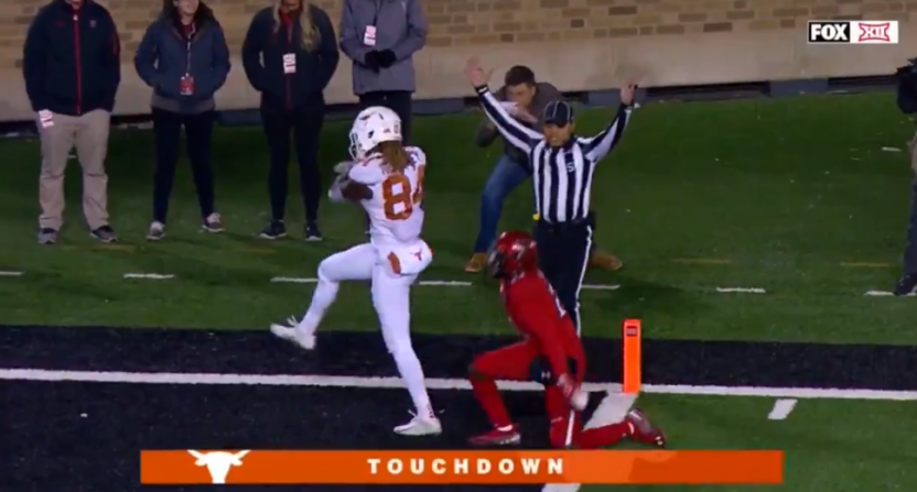 Lil'Jordan Humphrey's touchdown catch against Texas Tech.