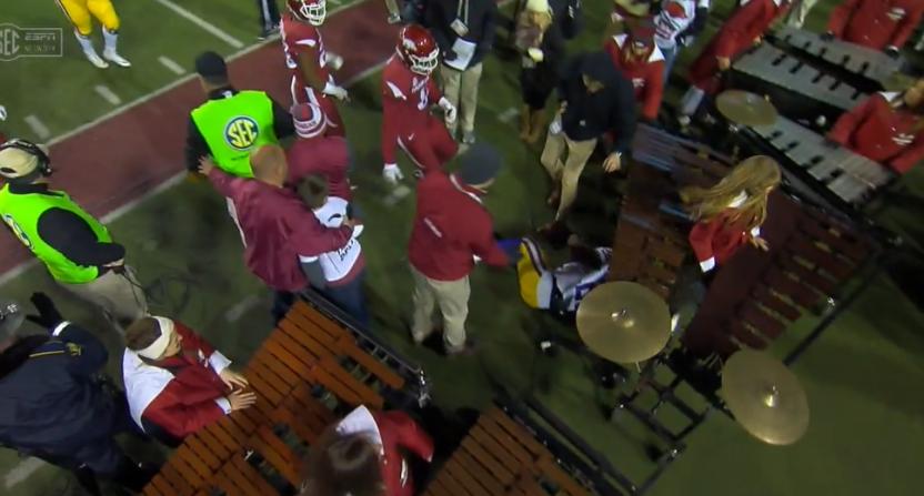 The Arkansas marimbas took an unexpected hit Saturday.