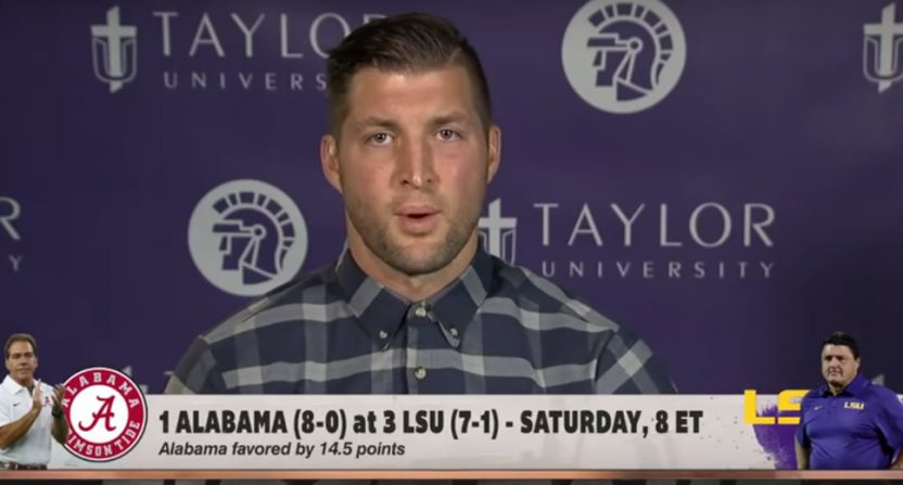 Tim Tebow on First Take.