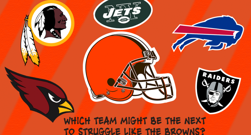 With the Browns improving, which team could be the next to go through their struggles?