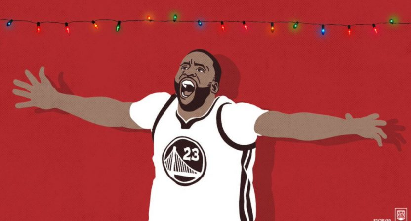 THe Warriors' drawing of Draymond Green.
