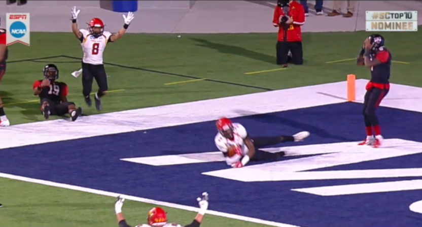 A bizarre Ferris State touchdown against Valdosta State in the D2 championship game.