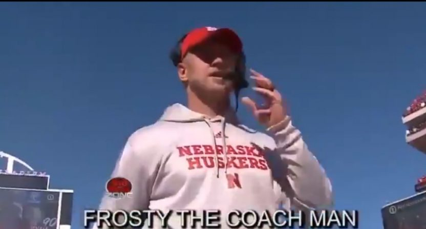 "A Nebraska TV station made this ""Frosty The Coach Man"" parody."