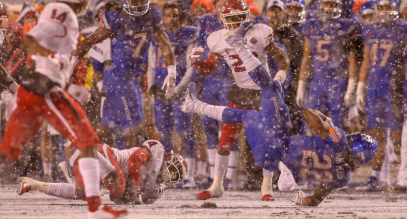 The Mountain West conference championship game was full of snow.