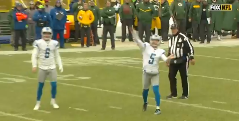 This Matt Prater fake field goal got quite the call from Pat McAfee on the Fox broadcast.
