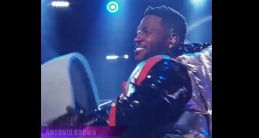 Antonio Brown on The Masked Singer.