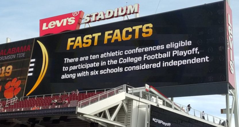 "A billboard about teams being ""eligible."""