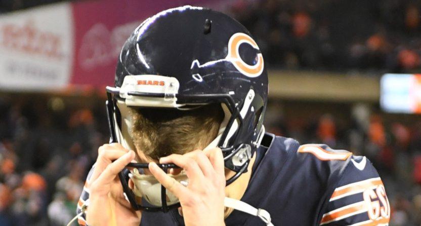 Bears' kicker Cody Parkey.