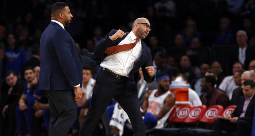 David Fizdale ejected against the Rockets.