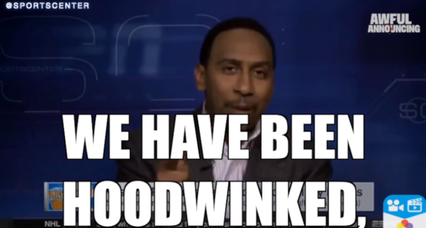 Stephen A. Smith's reaction to the Knicks drafting Porzingis.