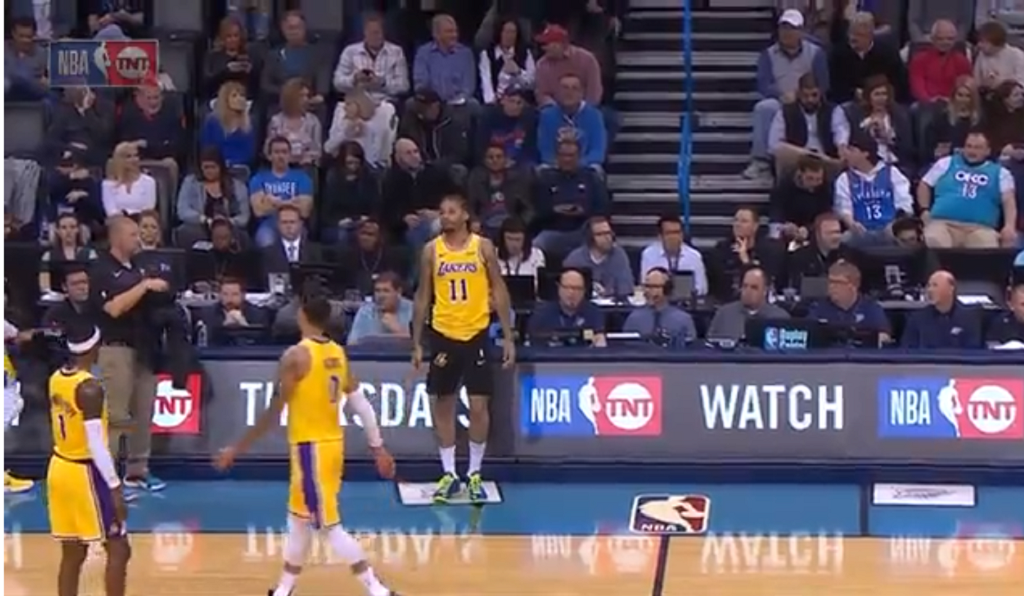 Michael Beasley tries to enter Lakers game wearing the wrong shorts
