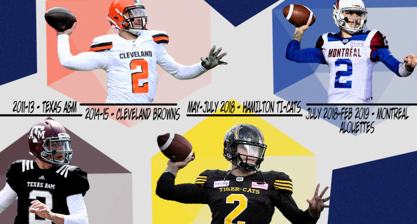The various uniforms of Johnny Manziel.