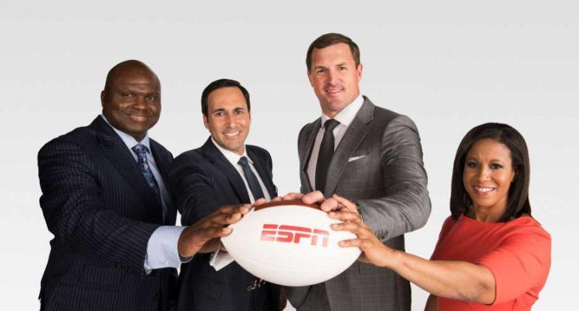 The Monday Night Football team.