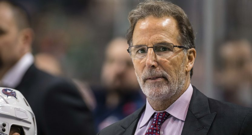 Blue Jackets' HC John Tortorella has benched deadline acquisition Adam McQuaid.