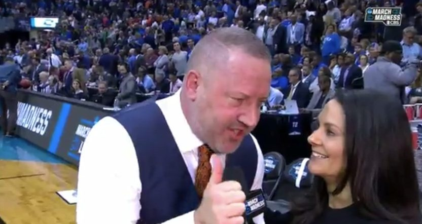 Buzz Williams lobbied for Tony Romo in the CBS basketball booth.