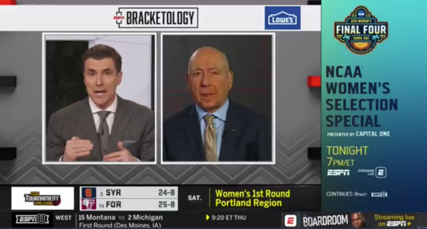 ESPNU leaked the women's NCAA tournament bracket ahead of the ESPN selection show.