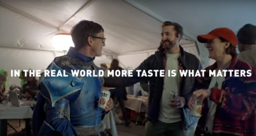 Miller Lite's new ad features The Bud Knight choosing their beer.