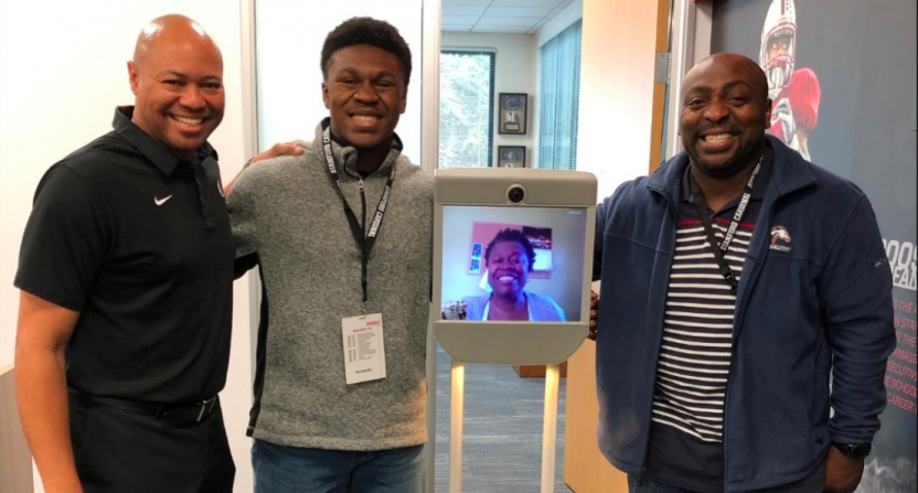 The Stanford Skype robot.