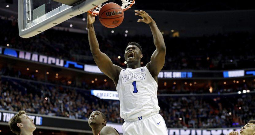 Duke's Zion Williamson against Virginia Tech.