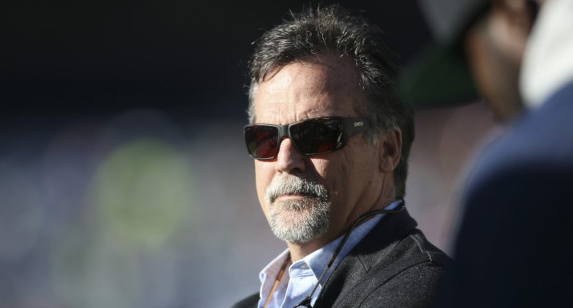 Jeff Fisher at a February 2019 AAF game.