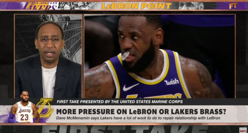 An ESPN discussion LeBron objected to.
