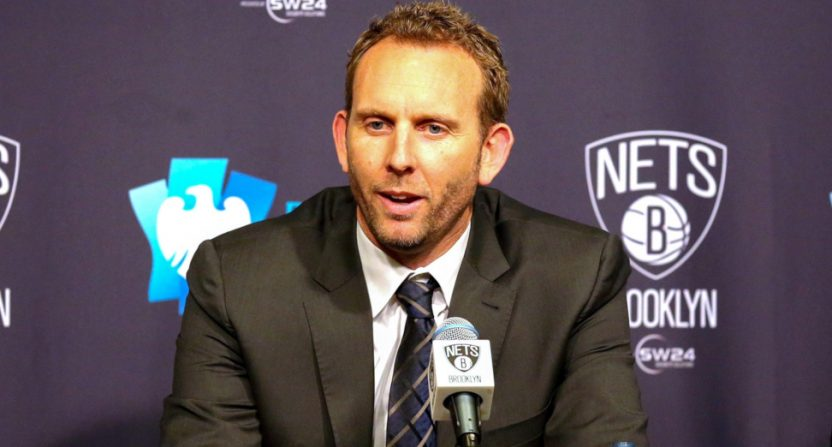 Nets' GM Sean Marks was suspended after entering the officials' locker room following Game 4 of the Nets-Sixers series.
