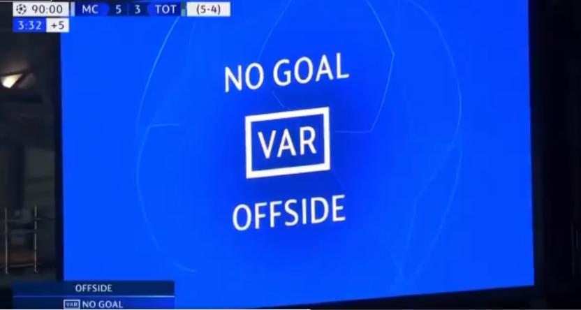 The VAR ruling from City-Tottenham.