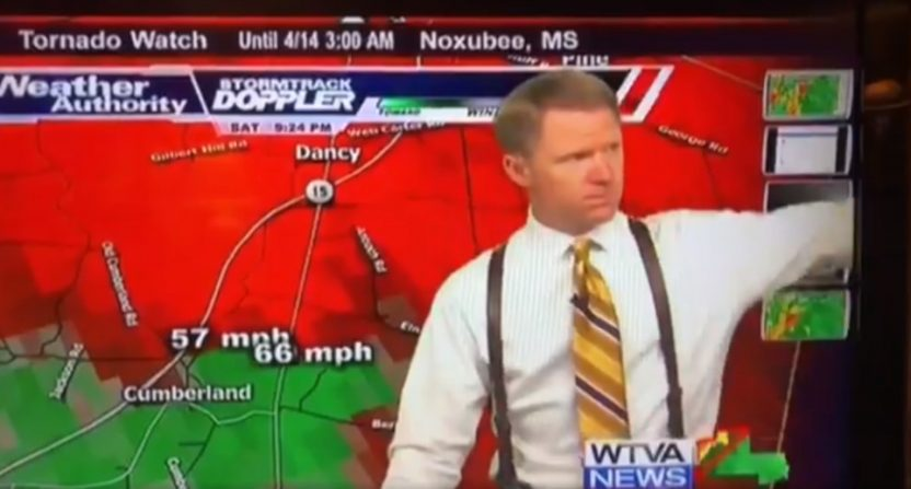 WTVA (Tupelo, Mississippi) chief meteorologist Matt Laubhan's on-air snapping at a coworker drew lots of Twitter comment.