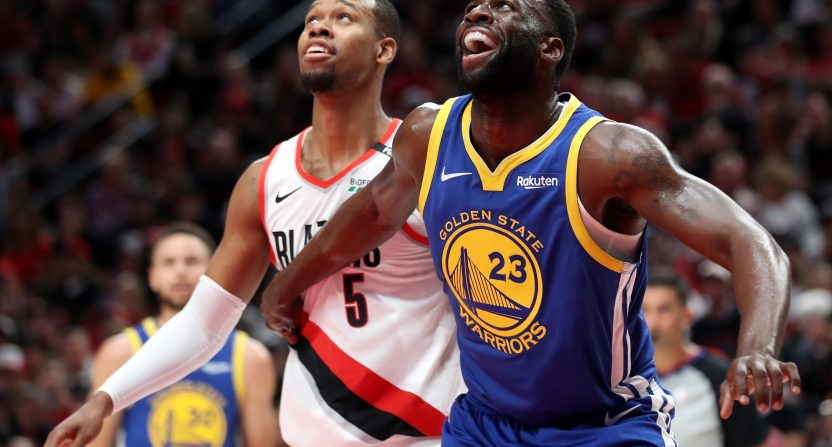 013acd63c95 Draymond Green s triple double gives Warriors 3-0 lead over Trail Blazers  in NBA Western Conference Finals