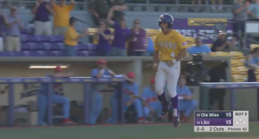 LSU SS Josh Smith's HR wasn't enough in the end for the Tigers to beat Ole Miss.