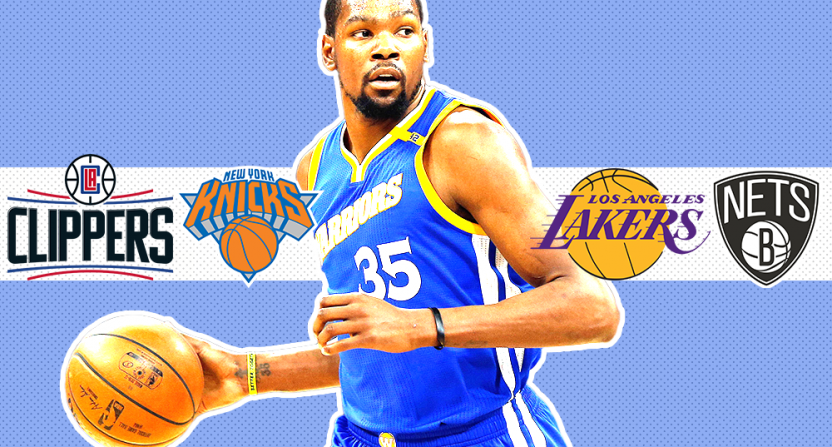 Some potential Kevin Durant destinations.