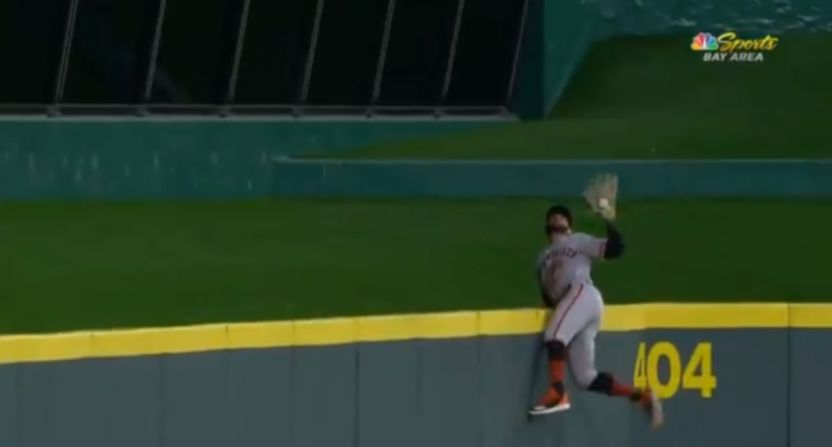 Kevin Pillar robbed Nick Senzel of a home run Saturday.