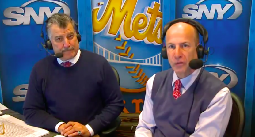 Keith Hernandez with Gary Cohen.