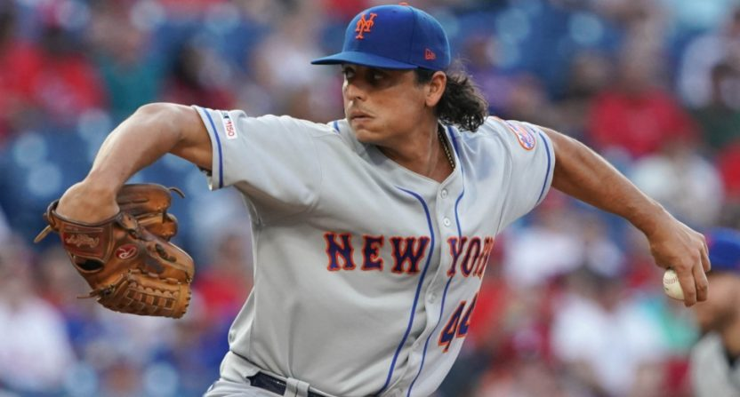 Jason Vargas pitching against the Phillies on June 26, 2019.