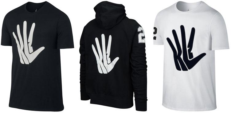 Kawhi Leonard's Nike Klaw shirts.