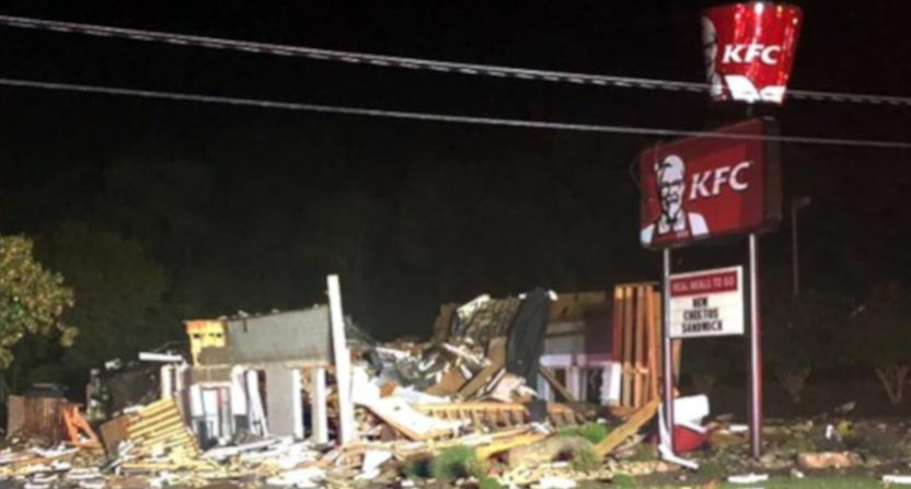 A KFC in Eden, NC exploded.