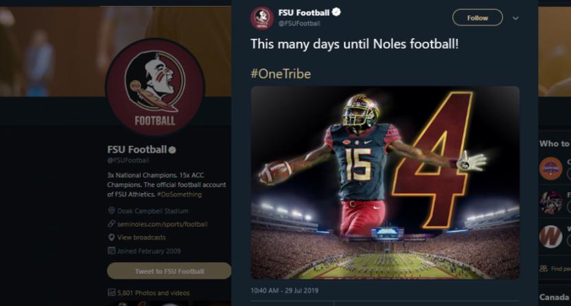 A Florida State tweet gone wrong.