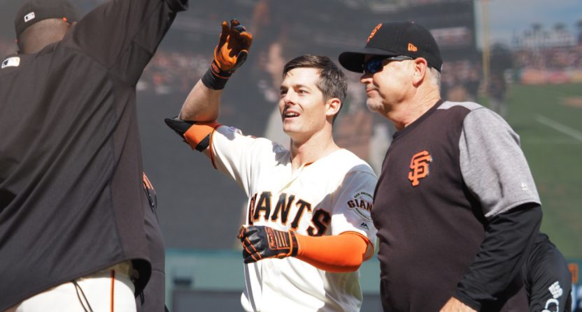 The Giants got another win Sunday thanks to a walk-off HR from Mike Yastrzemski.
