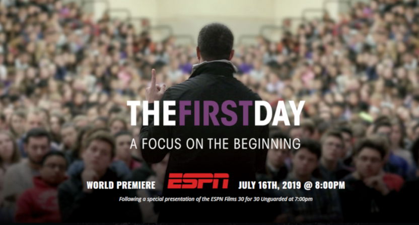 "Chris Herren has his presentations to students featured in the new film ""The First Day."""