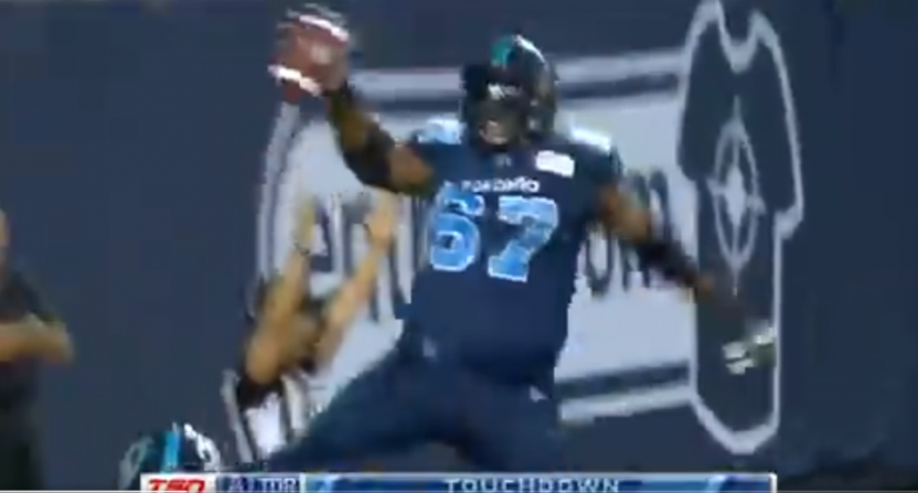 The Argos stormed back Thursday, with help from this Jamal Campbell TD.