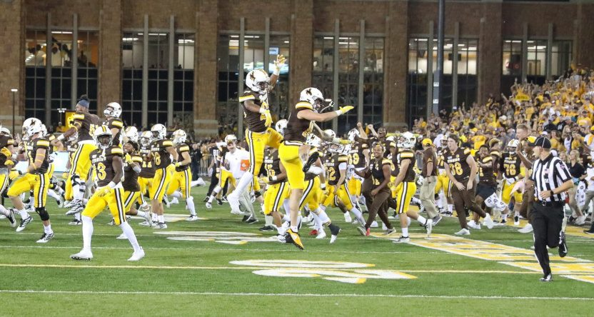 Wyoming with a win against Missouri.