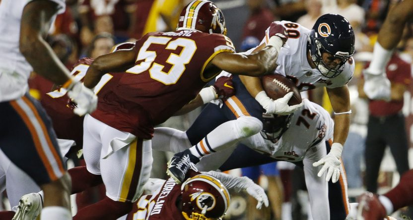The Redskins again lost on Monday Night Football, this time to the Bears.