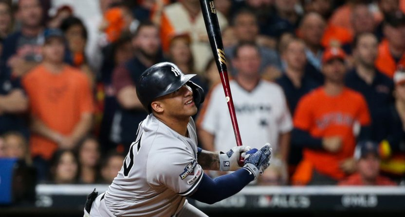Gleyber Torres against the Astros.