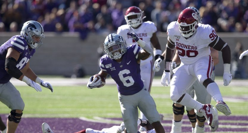 The Big 12 picture got more confusing Saturday, including with Oklahoma losing to Kansas State and Jordon Brown.